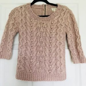 Kaisely Light Pink Knit Sweater | Small